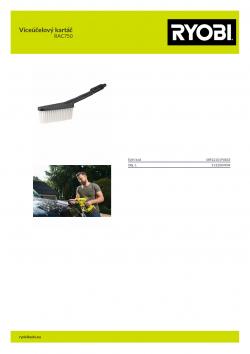 RYOBI RAC750 Víceúčelový kartáč 5132004904 A4 PDF