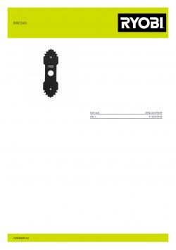 RYOBI RAC163  5132004924 A4 PDF