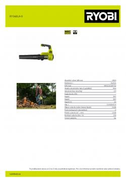 RYOBI RY36BLA  5133004576 A4 PDF