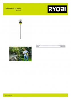 RYOBI RAC751 Adaptér na 2l lahev 5132004905 A4 PDF