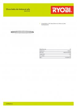 RYOBI RAC242 35cm řetěz do řetězové pily 5132002712 A4 PDF
