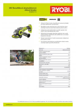 RYOBI R18AG7 18V Bezuhlíková akumulátorová úhlová bruska 5133002852 A4 PDF