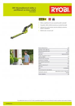 RYOBI OGS1822 18V Akumulátorové nůžky a zastřihávač na trávu a keře 5133002830 A4 PDF