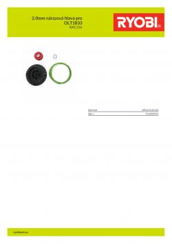 RYOBI RAC156 2.0mm nárazová hlava pro OLT1833 5132004531 A4 PDF