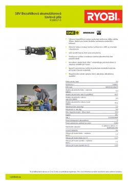 RYOBI R18RS7 18V Bezuhlíková akumulátorová šavlová pila 5133003809 A4 PDF