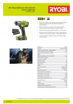 RYOBI R18IW3 18V Akumulátorový třírychlostní rázový utahovák 5133003574 A4 PDF