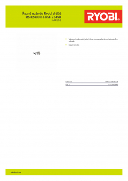 RYOBI RAC351 Řezné nože do Ryobi drtičů RSH2400R a RSH2545B 5132002646 A4 PDF