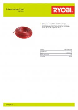 RYOBI RAC104 2.4mm struna (15m) 5132002641 A4 PDF