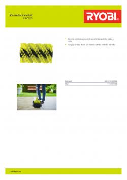 RYOBI RAC823 Zametací kartáč 5132004738 A4 PDF