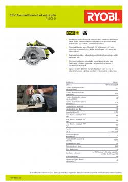 RYOBI R18CS 18V Akumulátorová okružní pila 5133002338 A4 PDF