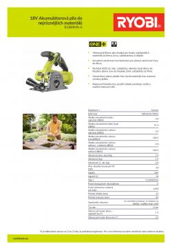 RYOBI R18MMS 18V Akumulátorová pila do nejrůznějších materiálů 5133004515 A4 PDF