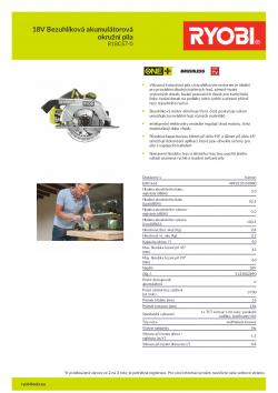 RYOBI R18CS7 18V Bezuhlíková akumulátorová okružní pila 5133002890 A4 PDF