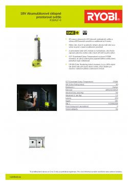 RYOBI R18ALF 18V Akumulátorové sklopné prostorové světlo 5133002304 A4 PDF