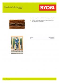 RYOBI RAC820 Kartáč na dřevěné povrchy 5132004737 A4 PDF