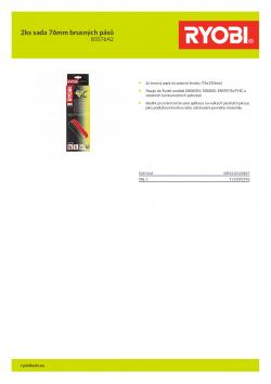 RYOBI BSS76A2 2ks sada 76mm brusných pásů 5132002596 A4 PDF