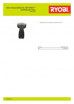 RYOBI RAC300 10cm řezací plátek do 18V ONE+™ zastřihávače trávy 5132002426 A4 PDF