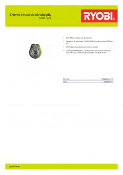 RYOBI CSB170A1 170mm kotouč do okružní pily 5132002565 A4 PDF