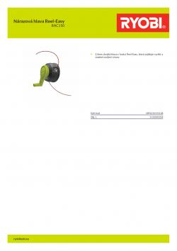RYOBI RAC150 Nárazová hlava Reel-Easy 5132003334 A4 PDF