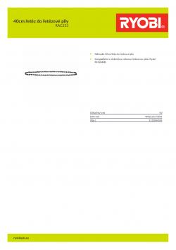 RYOBI RAC253 40cm řetěz do řetězové pily 5132004345 A4 PDF