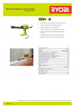 RYOBI CCG1801 18V Akumulátorová těsnící pistole 5133000192 A4 PDF