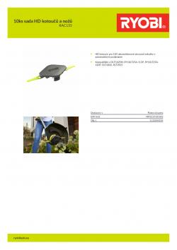 RYOBI RAC155 10ks sada HD kotoučů a nožů 5132004559 A4 PDF