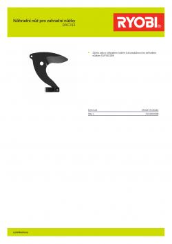 RYOBI RAC313 Náhradní nůž pro zahradní nůžky 5132003308 A4 PDF