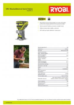 RYOBI R18TR 18V Akumulátorová horní frézka 5133002917 A4 PDF