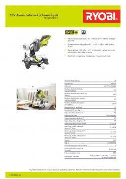 RYOBI EMS190 18V Akumulátorová pokosová pila 5133000932 A4 PDF