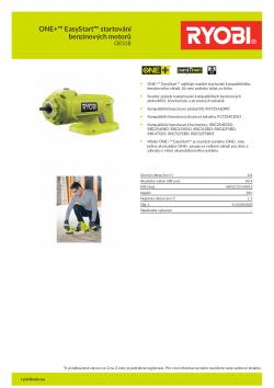 RYOBI OES18 ONE+™ EasyStart™ startování benzínových motorů 5132002803 A4 PDF