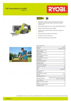 RYOBI R18PL 18V Akumulátorový hoblík 5133002921 A4 PDF