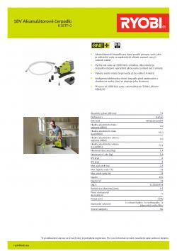 RYOBI R18TP 18V Akumulátorové čerpadlo 5133003934 A4 PDF