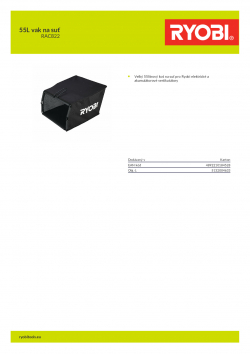 RYOBI RAC822 55L vak na suť 5132004633 A4 PDF