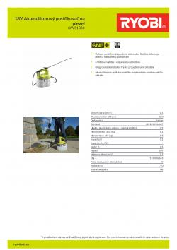 RYOBI OWS1880 18V Akumulátorový postřikovač na plevel 5133002676 A4 PDF