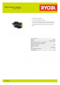 RYOBI ERGO OFFSET ERGO Ofsetový adaptér 5133003691 A4 PDF