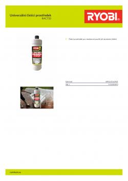 RYOBI RAC733 Univerzální čistící prostředek 5132003870 A4 PDF