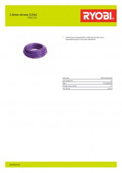 RYOBI RAC101 1.6mm struna (15m) 5132002638 A4 PDF