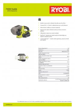 RYOBI EPN7582 750W Hoblík 5133000352 A4 PDF