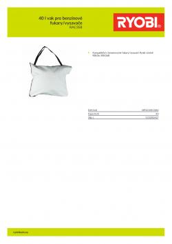 RYOBI RAC358 40 l vak pro benzínové fukary/vysavače 5132002427 A4 PDF