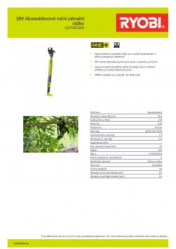 RYOBI OLP1832BX 18V Akumulátorové ruční zahradní nůžky 5133004392 A4 PDF