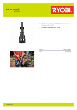 RYOBI RAC740 Karcher adaptér 5132004786 A4 PDF