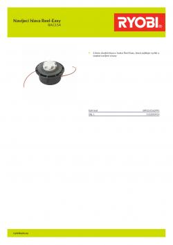 RYOBI RAC154 Navíjecí hlava Reel-Easy 5132003914 A4 PDF