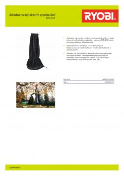 RYOBI RAC365 Středně velký sběrný systém listí 5132003275 A4 PDF