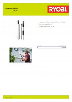 RYOBI RAC743 Přídavná tryska 5132004789 A4 PDF