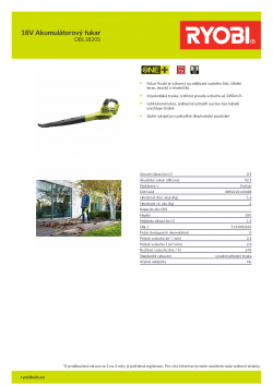 RYOBI RBL1820S 18V Akumulátorový fukar 5133002663 A4 PDF