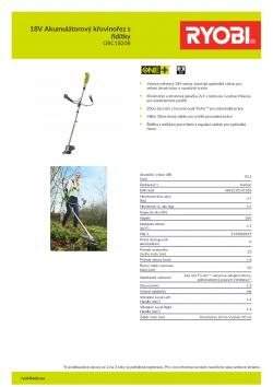RYOBI RBC1820B 18V Akumulátorový křovinořez s řidítky 5133002619 A4 PDF