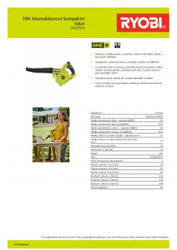 RYOBI R18TB 18V Akumulátorový kompaktní fukar 5133002915 A4 PDF