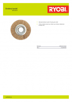 RYOBI RAC814 Drátěný kartáč 5132004346 A4 PDF