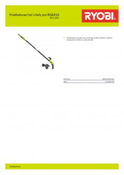 RYOBI RAC303 Prodlužovací tyč s koly pro RGS410 5132002454 A4 PDF