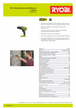 RYOBI R18PD3 18V Akumulátorová příklepová vrtačka 5133002888 A4 PDF