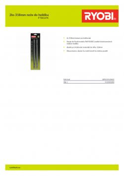 RYOBI PTB02PK 2ks 318mm nože do hoblíku 5132002896 A4 PDF